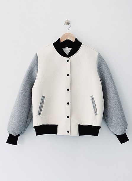 jacket white grey bomber jacket hipster where to get this jacket