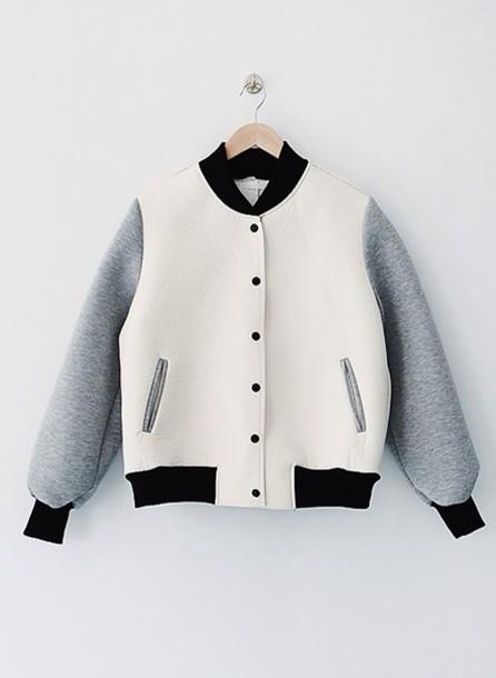jacket white grey bomber jacket hipster