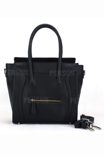Oversized Smile Face Handbag In Black [FPB735] - PersunMall.com