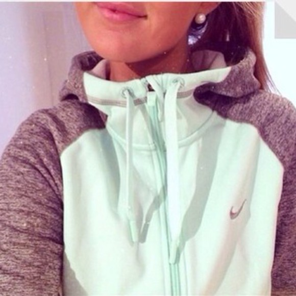 jacket zip-up nike hoodie mint