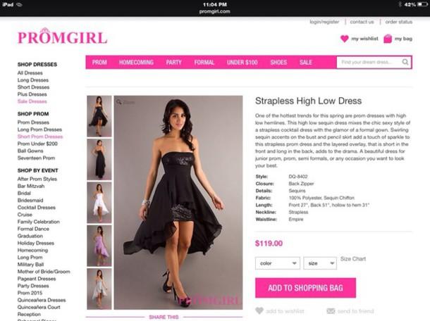 dress black dress high low sweet16 sparkle strapless dress prom dress cardigan
