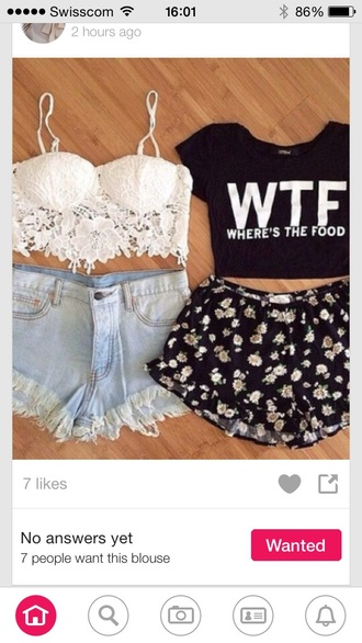 shorts flowered shorts top