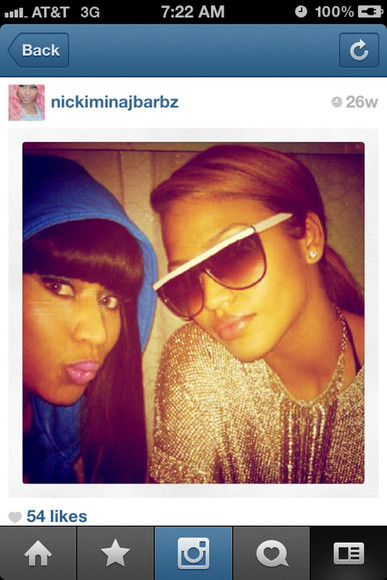 white sunglasses sweater sunglasses nicki minaj