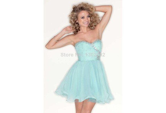 lovely cute dress short homecoming dresses sky blue homecoming dress a-line short prom dresses beaded short dresses organza prom dress sweetheart dresses