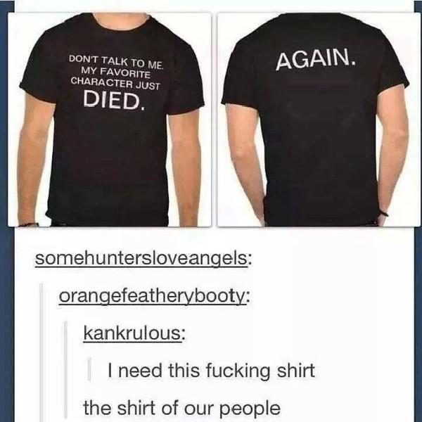 tumblr shirt shirt t-shirt supernatural black