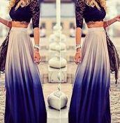 skirt,ombre maxi skirt,tie dye maxi skirt,tie dye skirt,dip dye skirt,ootd,boho,ombre skirt,coachella