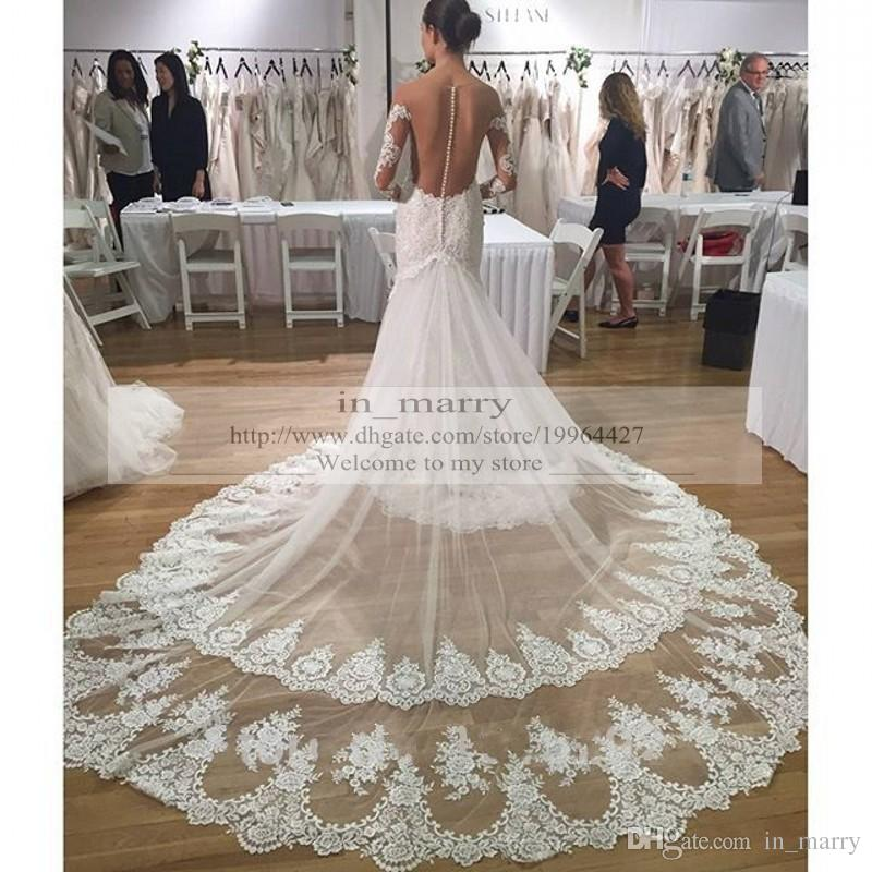 2016 plus size african mermaid long sleeves wedding for Www dhgate com wedding dresses