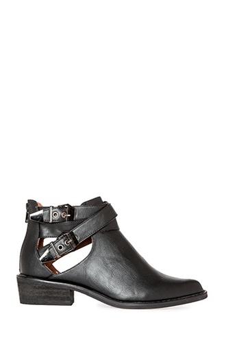 cutout shoes black boots black shoes ankle boots cut out ankle boots