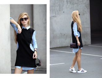 sirma markova blogger shirt top bag jewels shoes sunglasses dress