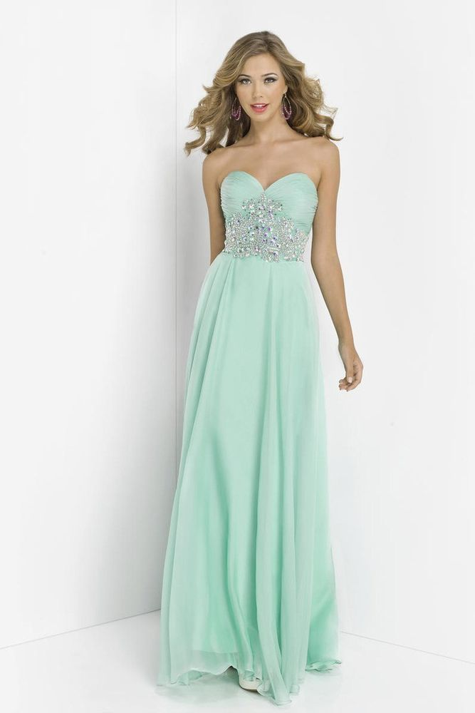 New Ball Gown Sexy Strapless Long Formal Prom Party