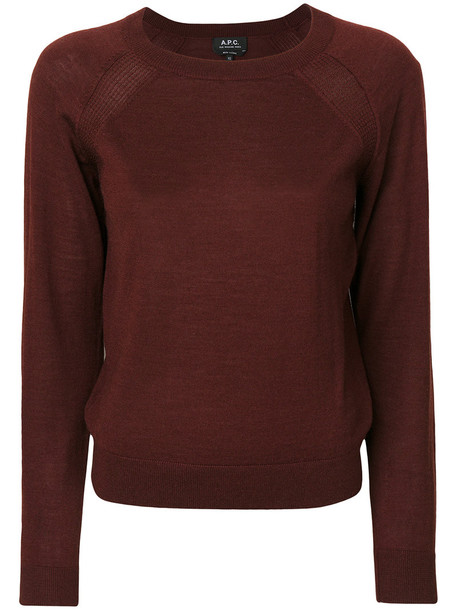 A.P.C. jumper women silk red sweater