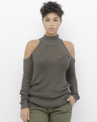 sweater shirt olive green olive shirt olive sweater olive green shirt olive green sweater open shoulder open shoulder shirt open shoulder sweater knit mock neck mock neck sweater knitwear knitted sweater turtleneck turtleneck sweater
