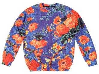 sweater pritned sweater sewatshirt print pritn floral floral sweater flroal print sweater flower print sweater jumper pullover