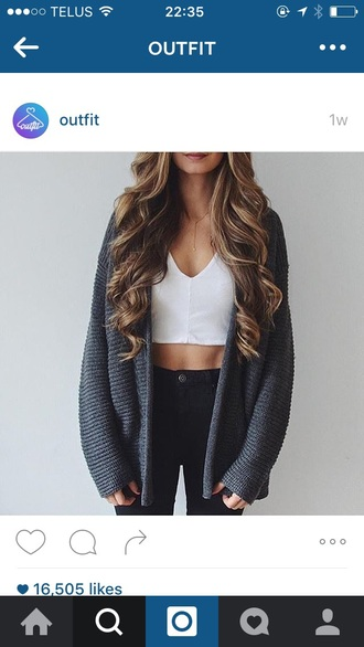 sweater cardigan knitwear blue grey