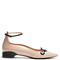 Round 'n' round polished-leather flats