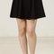 Paneled flare knit skirt