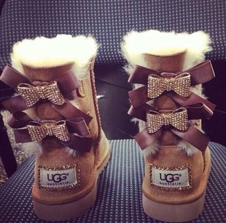 shoes ugg boots boots bows ribbons sparkles