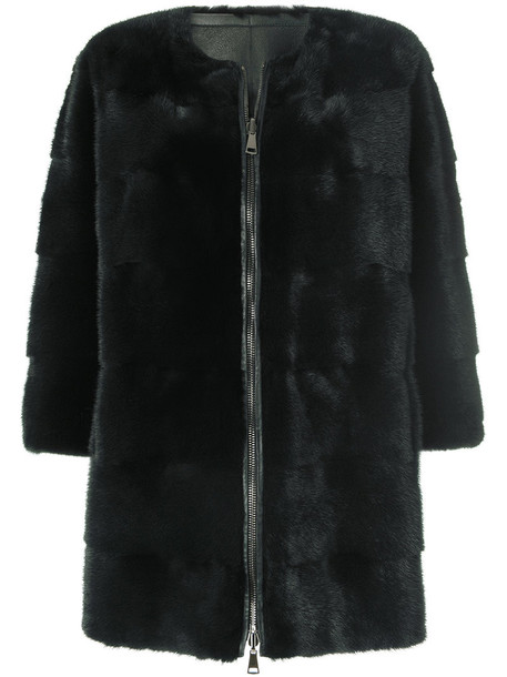 coat fur coat fur women green