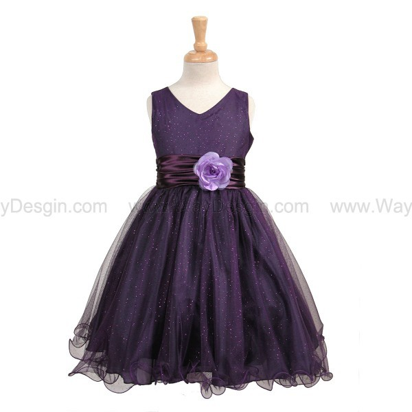 purple flower girl dress purple dress