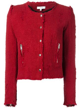 jacket women cotton red