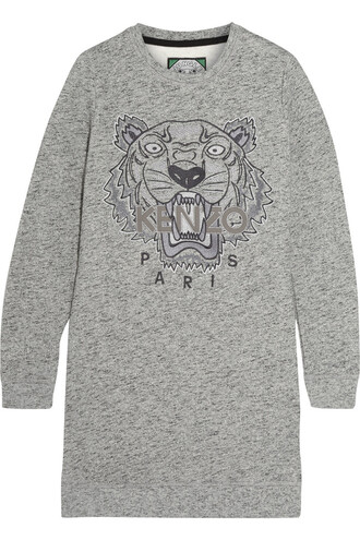 dress mini dress mini embroidered tiger cotton