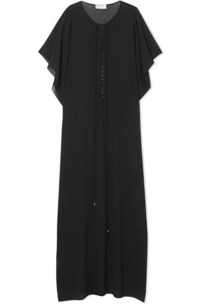 chiffon lace black silk top