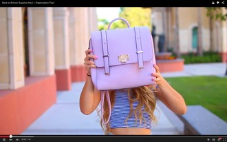 bag backpack purple mamamiamakeup backto school