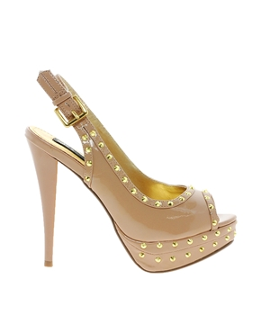 Blink | Blink Studded Slingback Heeled Shoe at ASOS