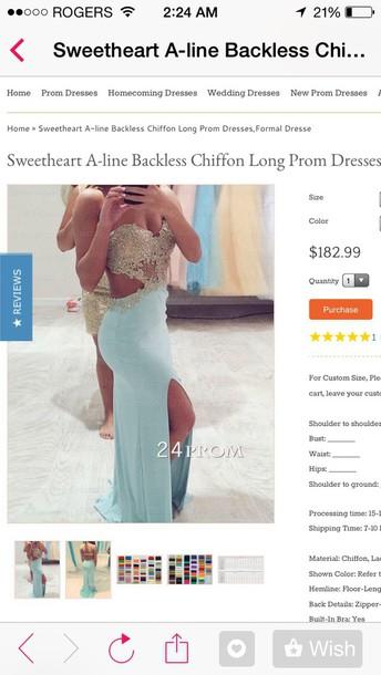 dress prom baby blue prom dress