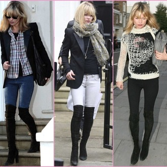suede thigh highs thigh high boots kate moss