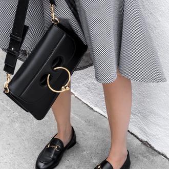 bag black leather bag designer bag shoulder bag black bag gucci loafers loafers black shoes