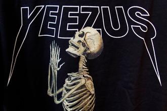 shirt t-shirt yeezus skull dark black