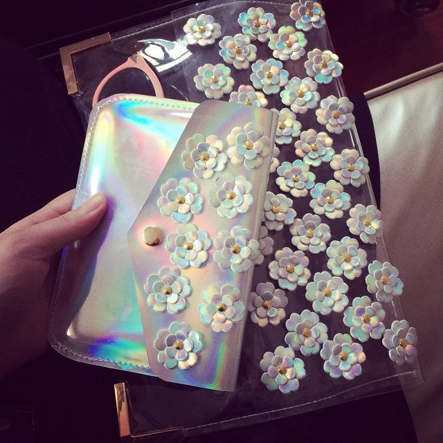 2014 New Appliques Women's Day Clutches Purses and Handbags Novelty Clear PVC Comsmetic Bag Hologram Envelope Bags-in Clutches from Luggage & Bags on Aliexpress.com | Alibaba Group