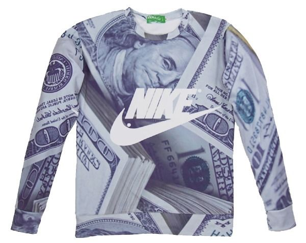 Money 3d novel digital print sweatshirt t