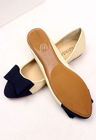 Fashion shopping mall — [ghyxh36286]fashion comfortable bowknot contrast color spliced slip on flat shoes