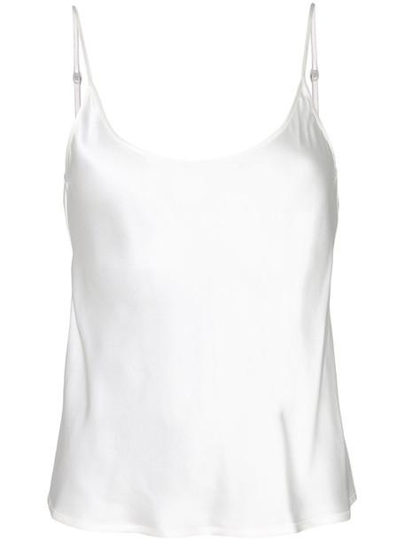 LA PERLA camisole women white silk underwear