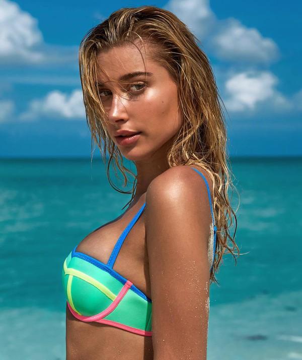 swimwear hailey baldwin summer beach bikini bikini top