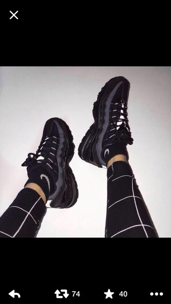 shoes nike black leggings