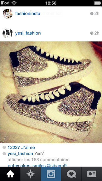 shoes nike nike blazers women nike blazer strass paillettes l
