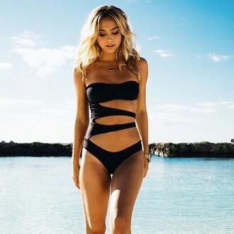 swimwear bikini one piece swimsuit black bikini