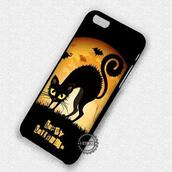 phone cover,cute,halloween,black cat hat,iphone cover,iphone case,iphone 6 case,iphone 5 case,iphone 4 case,iphone 5s,iphone 5c,iphone 6 plus,iphone 7 case,iphone 7 plus