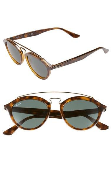 Ray-Ban 'Highstreet' 50mm Brow Bar Sunglasses   Nordstrom