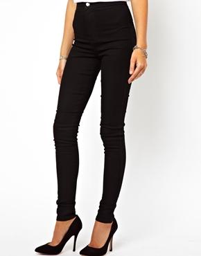 ASOS | ASOS - Jeggings en jean à taille super haute - Noir chez ASOS