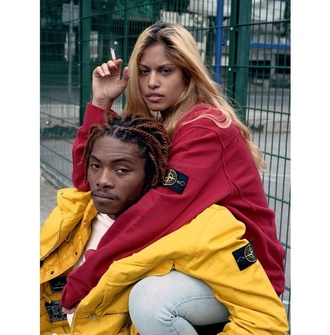 sweater red sweater stone island style red nice love it