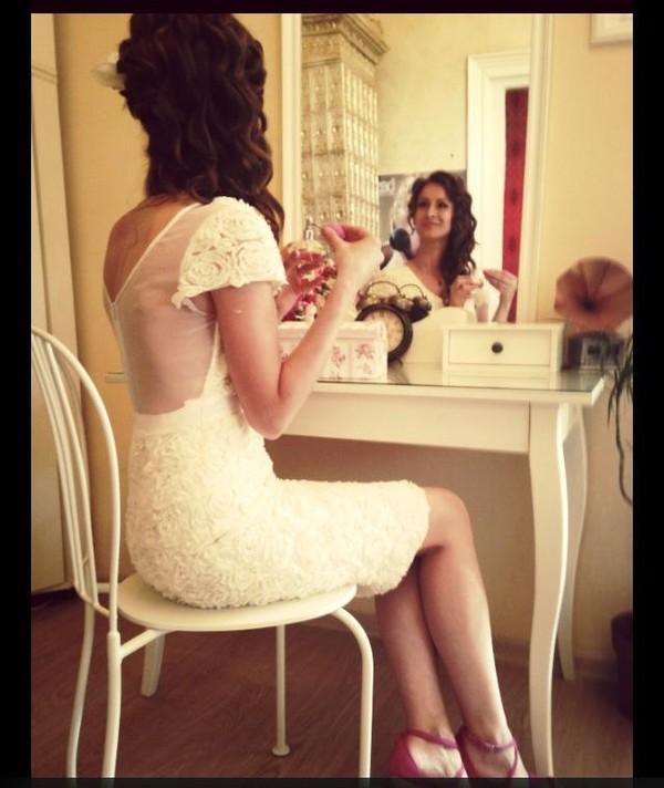 dress lace dress white dress lace bridesmaid dress white floral short dress lace wedding dress