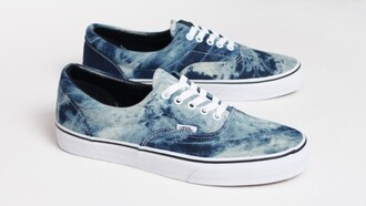 shoes acid denim shoe water vans tie dye