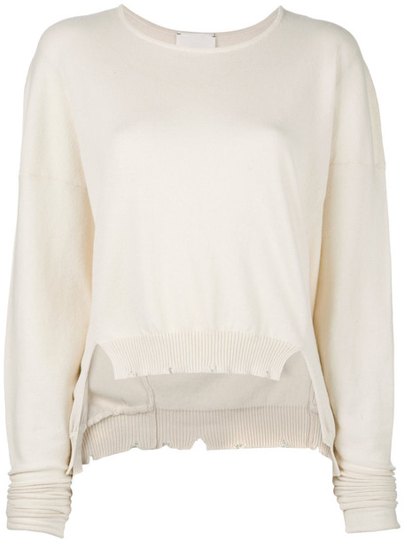 Lost & Found Rooms jumper women nude cotton sweater