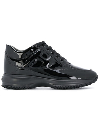 women classic sneakers black shoes