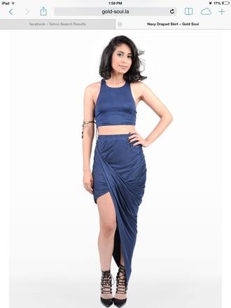 skirt high low skirt