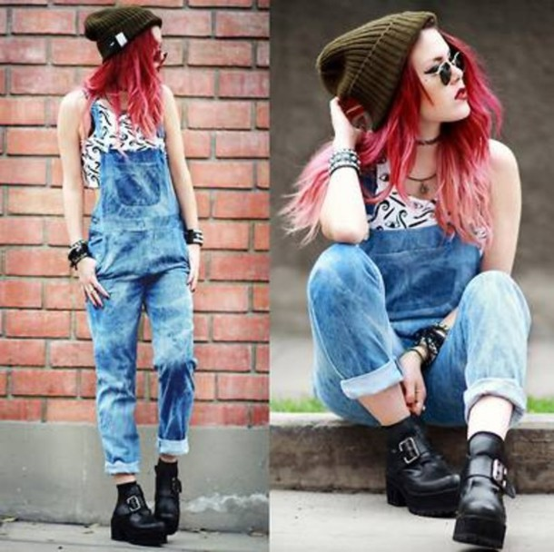 jeans overalls le happy blue jumpsuit